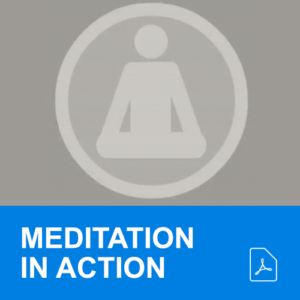 symbol of individual meditating in grey